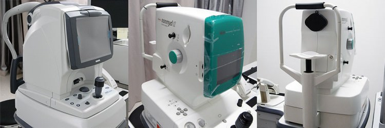 各種検査機器(光干渉断層計, 無散瞳眼底カメラ)